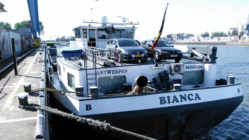 Aflosser binnenvaart Dirk Boere vaart als schipper op motorschip Bianca.