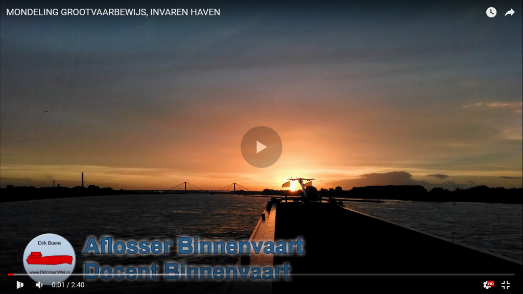Examen mondeling grootvaarbewijs (navigatie 1) | Docent Binnenvaart | Dirk Boere